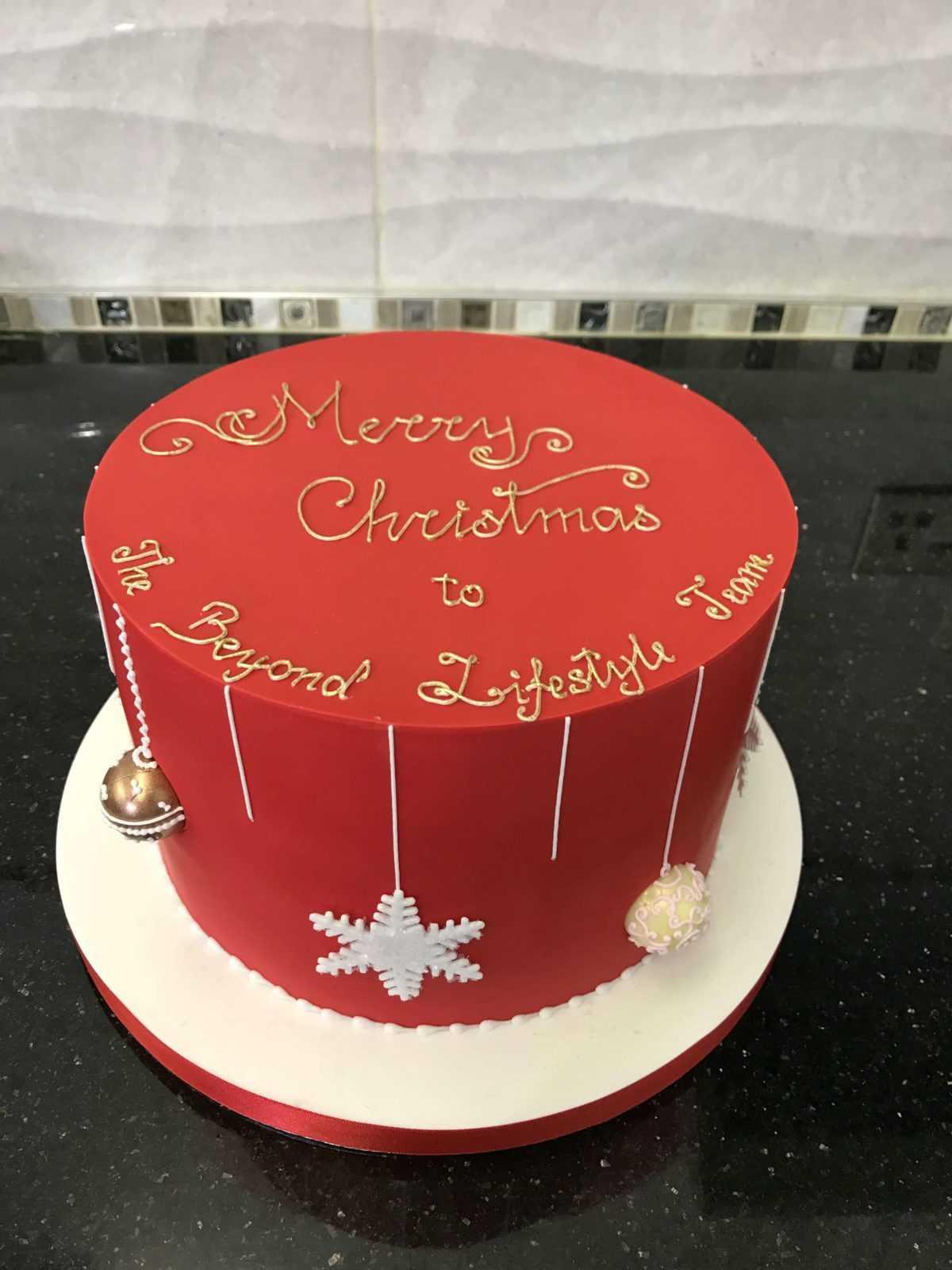 christmas cakes elegateau
